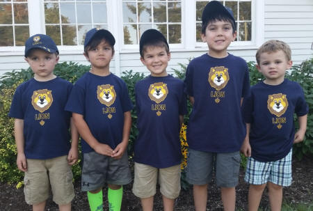 Fox Island's first Lion Cub Scouts