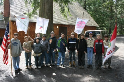 Fox Island's Troop 27 Scouts at Camp Ramblewood